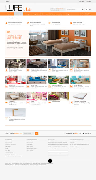 Página web - LUFE - Proyectos - Lombok Design