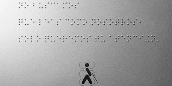 El primer post en braille de Facebook.