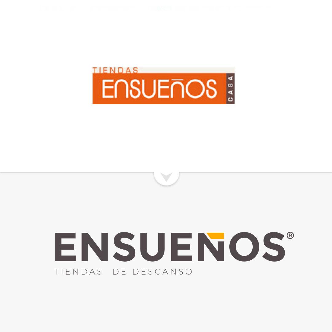 rediseño de logotipo e imagen corporativa de la tienda ensueños