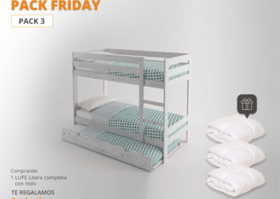 PACK FRIDAY de Muebles LUFE