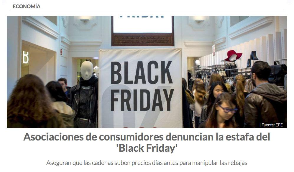 Las quejas de las asociaciones de consumidores del Black Friday