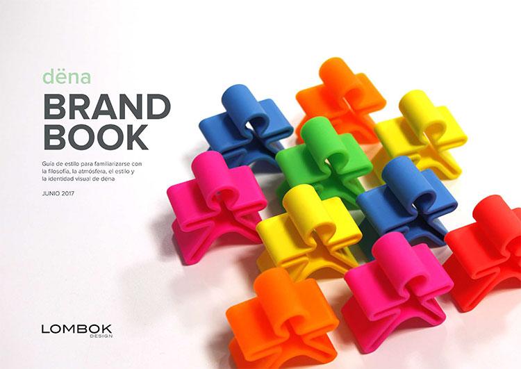 Brand book de dëna realizado por Lombok Design