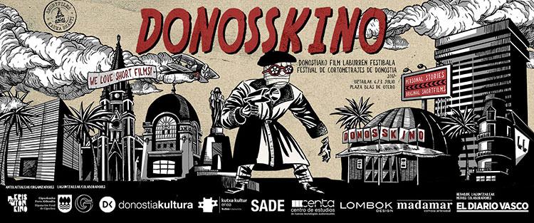 Cartel del festival de cortos organizado por Kristonkino