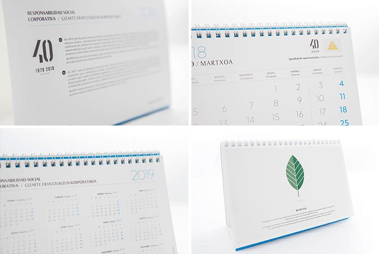 detalles de los calendarios personalizados 2018 diseñados para Grupo Elektra por la agencia de comunicación Lombok Design