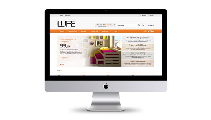 estructuración y diseño de web para muebles lufe el ikea vasco