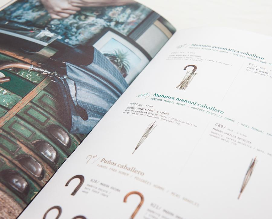 Interior catálogo Ezpeleta, paraguas caballero.