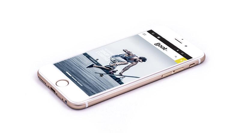 versión responsive para moviles de la tienda online desarrollada para goatlongboards