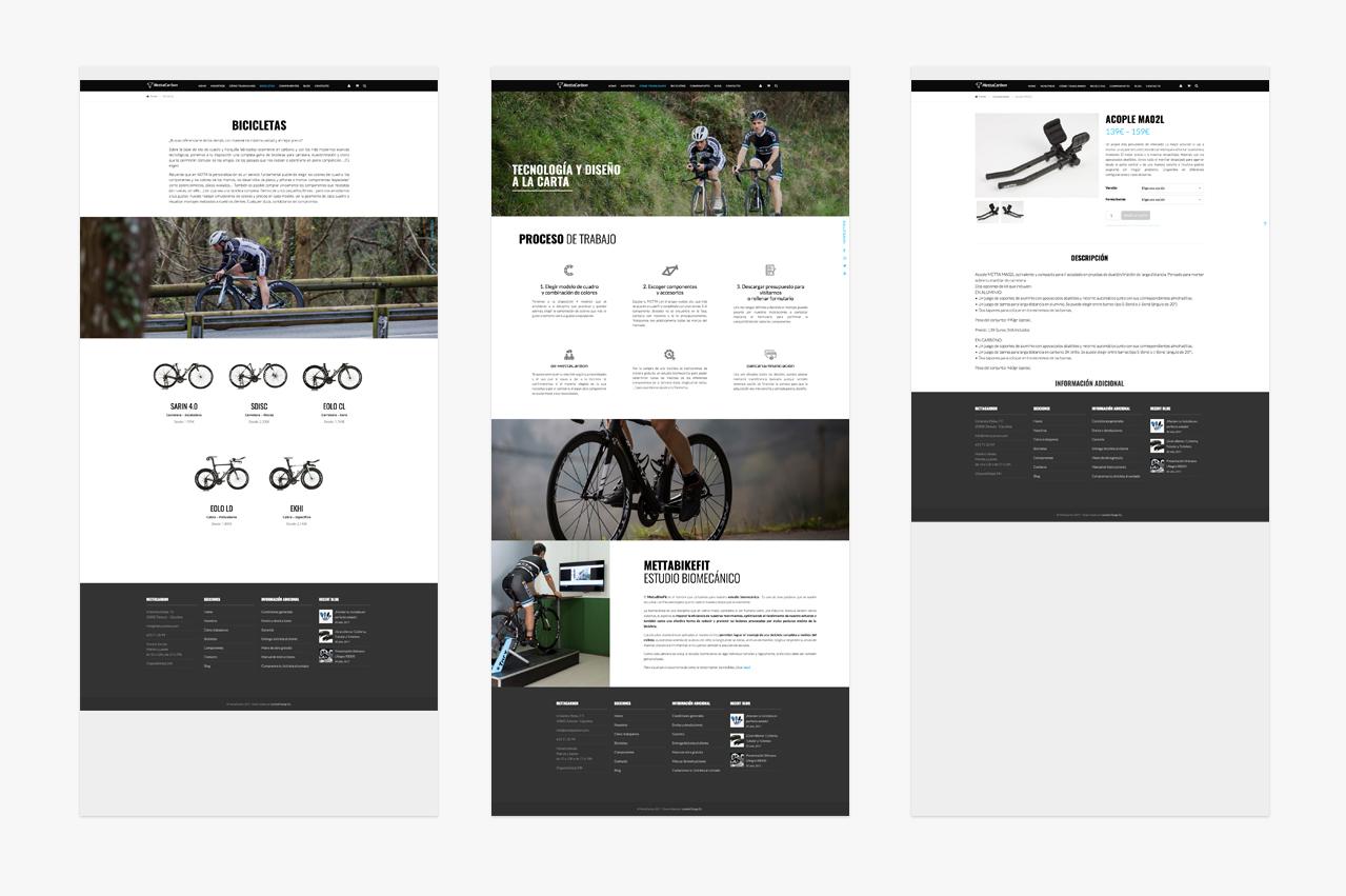 Mettacarbon. Diseño gráfico de la página web por Lombok.