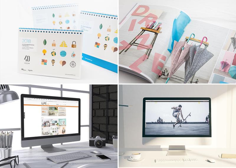 Calendario Elektra, catálogo Ezpeleta y web Muebles LUFE