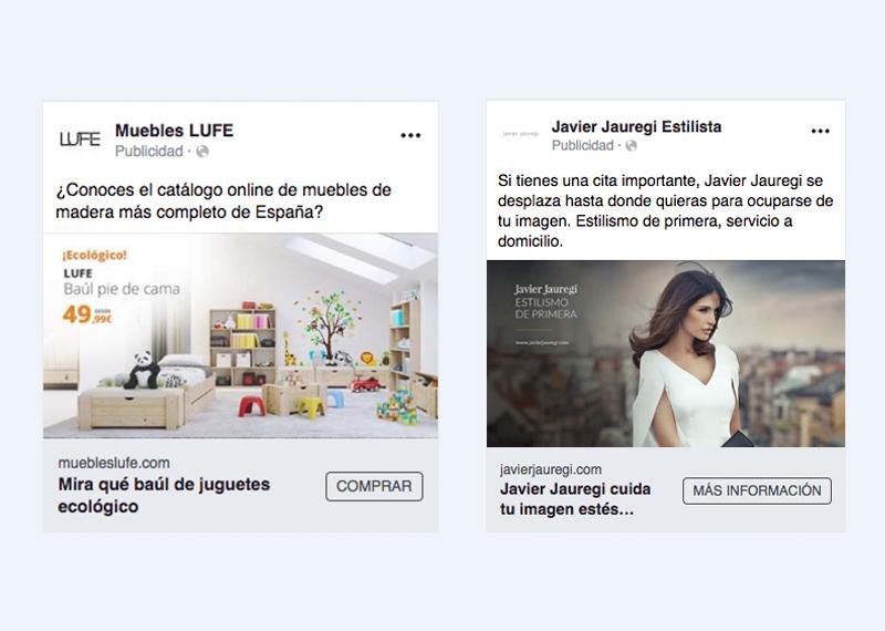 Facebook adds Muebles LUFE y Javier Jauregi Estilista