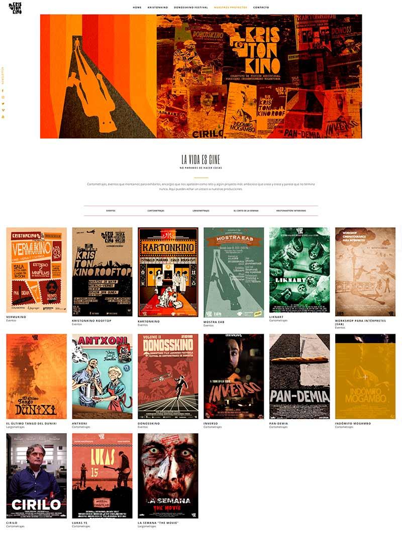 Desarrollo web Kristonkino hecho por Lombok