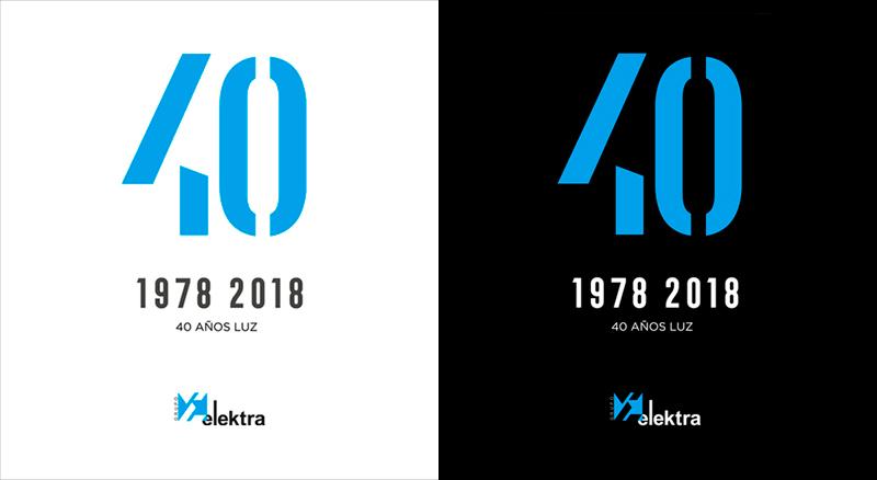 Elektra 40 aniversario. Imagen corporativa