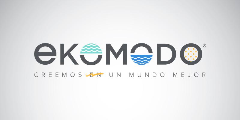 Logotipo de Ekomodo. Creemos en un mundo mejor