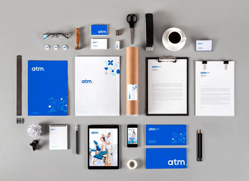Papeleria de ATM. Identidad visual
