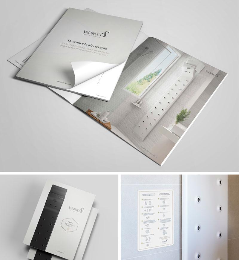 Diseño web y diseño de branding para Valiryo Body Dryer