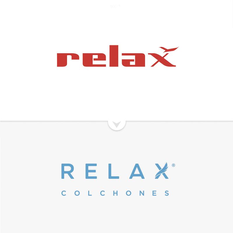 Rebranding Colchones Relax, logo antiguo y luego nuevo
